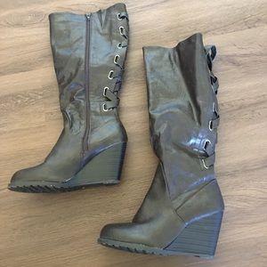 Wedge Heel Boots
